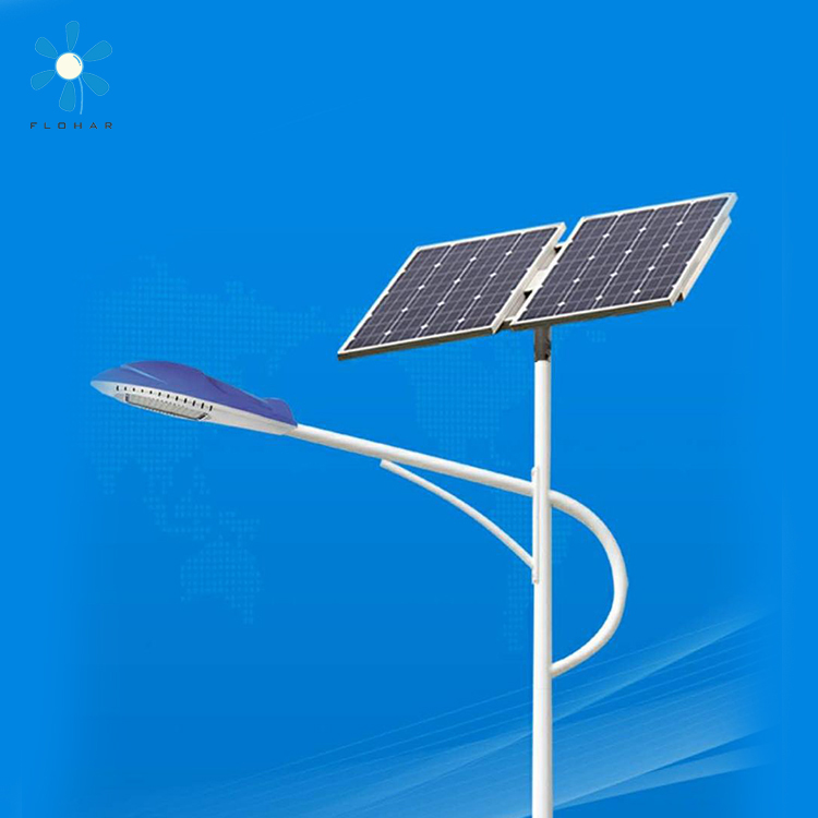 25w integrated cob led solar street light with pole