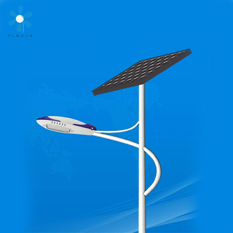 100w 80w high power integrated solar street light with portable solar panels